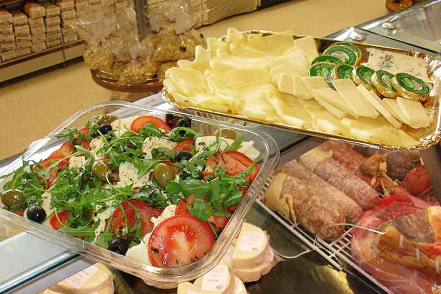 Platters of Italian cheeses