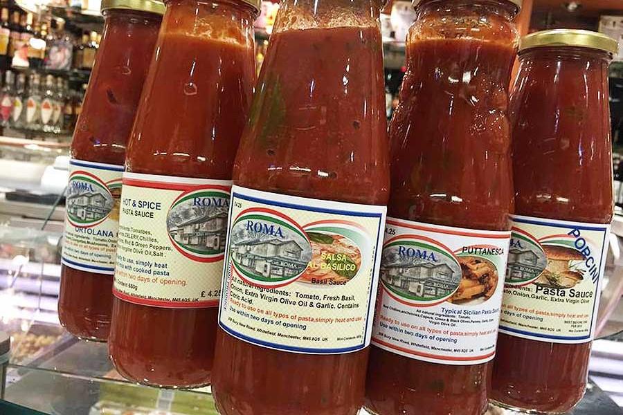 Roma own-brand pasta sauce