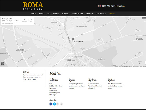 Roma Map Page