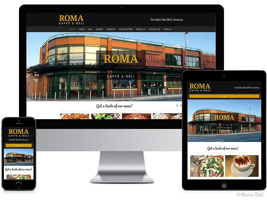 Roma responsive website